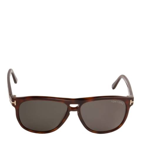 Tom Ford Unisex Shiny Dark Brown Lennon Sunglasses 55mm