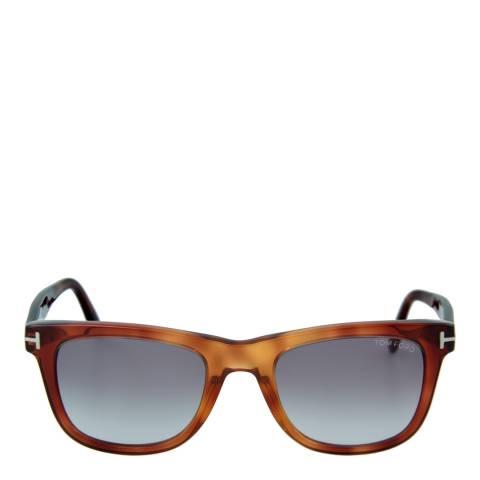 Tom Ford Unisex Light Brown Leo Sunglasses 52mm