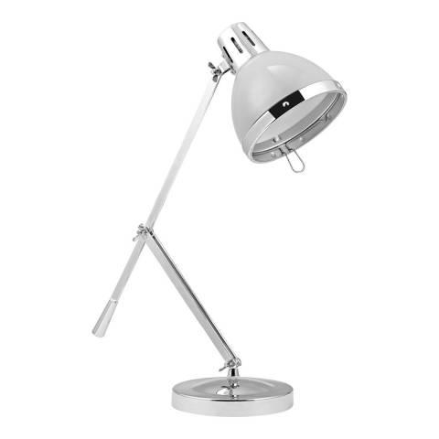 Premier Housewares Flint Grey Vermont Adjustable Table Lamp