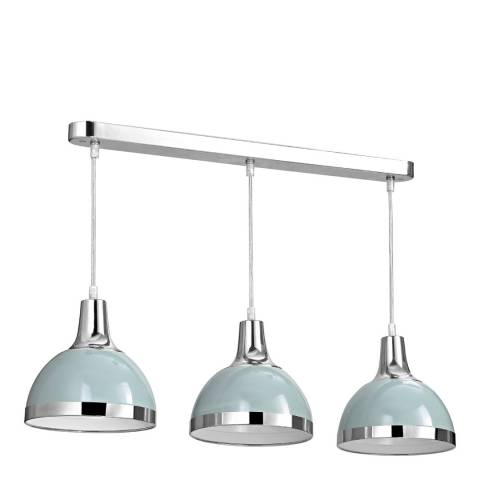 Premier Housewares Shutter Blue/Chrome Vermont Pendant Light
