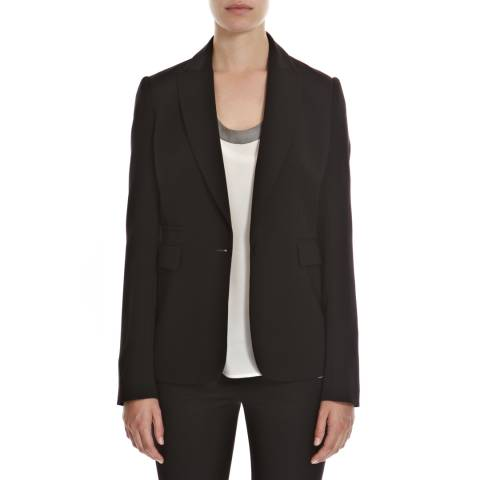 Joseph Black Earl Single Breasted Crepe Blazer