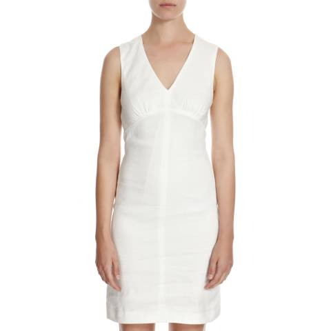 Joseph White Kate A Line Stretch Linen Blend Dress