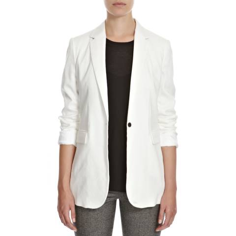 Joseph White New Laurent Stretch Linen Blend Blazer