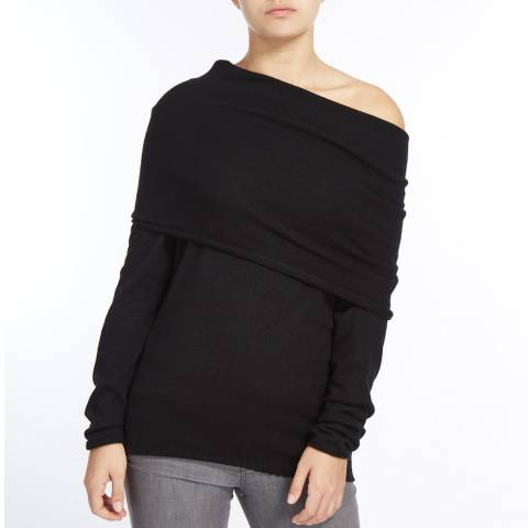 Scott & Scott London Black Jessica Jaffa Cashmere Jumper
