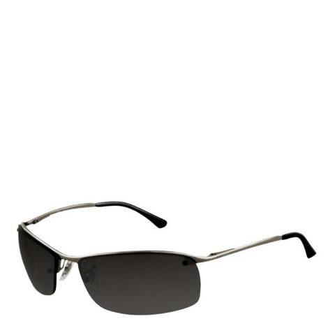 Ray-Ban Unisex Silver/Black Top Bar Half Rim Sunglasses