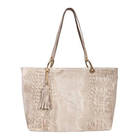 Massimo Castelli Cream Top Handle Bag