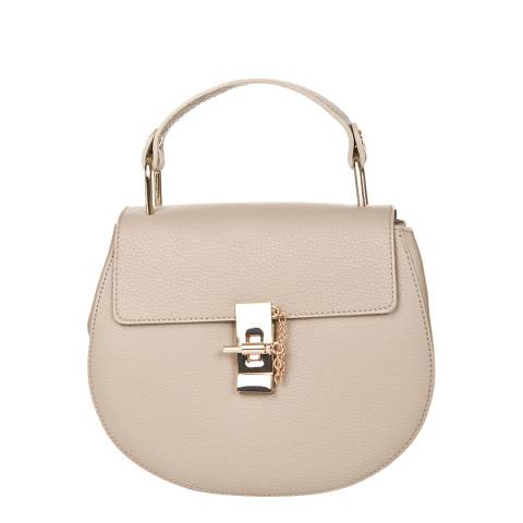 Giorgio Costa Cream Leather Crossbody Bag
