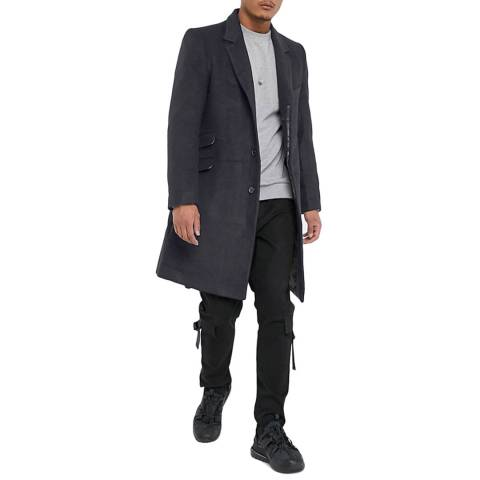 Bolongaro Trevor Charcoal Bowie Frock Wool Blend Coat