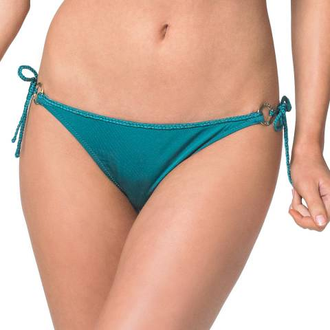Heidi Klein Turquoise Costa Rica Ring Side Tie Bikini Briefs