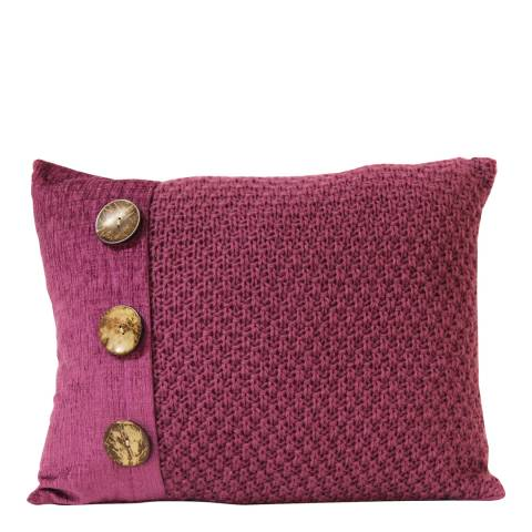 Gallery Pink Taylor Button Cushion 40x50cm