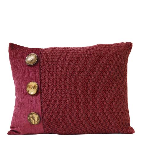 Gallery Dark Red Taylor Button Cushion 40x50cm
