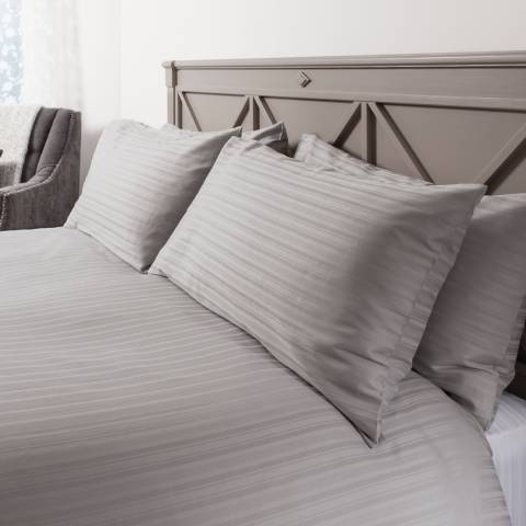 Gallery Strada Super King Duvet Cover Set, Silver