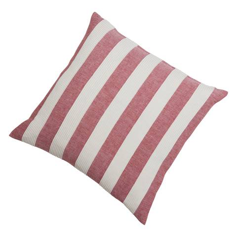 Gallery Soft Red Boardwalk Stripe Cotton Cushion 55x55cm