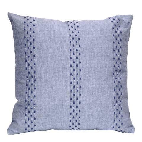 Gallery Sea Blue Stripe Cotton Cushion 45x45cm