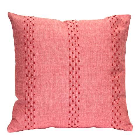 Gallery Soft Red Stripe Cotton Cushion 45x45cm