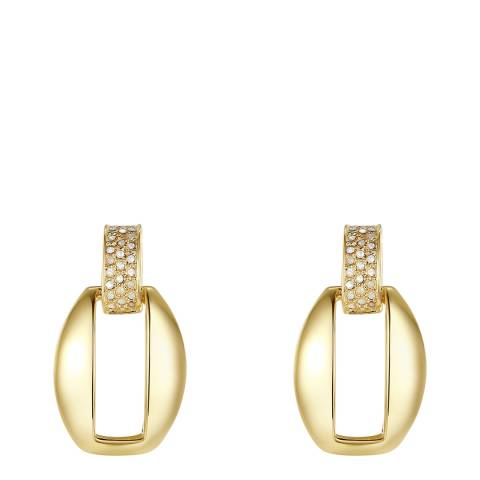 Lilly & Chloe Gold Hollow Swarovski Crystal Elements Earrings
