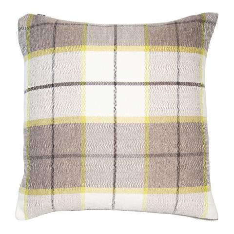 Malini Chartreuse Green Highland Cushion 45x45cm