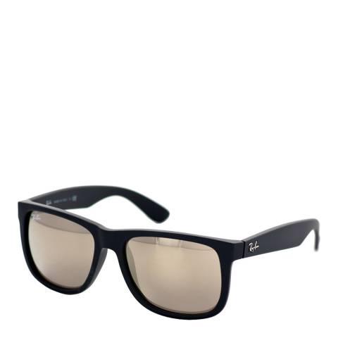Ray-Ban Unisex Black Rubber Justin Sunglasses 54mm