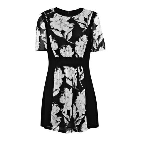 French Connection Black/White Floral Dress