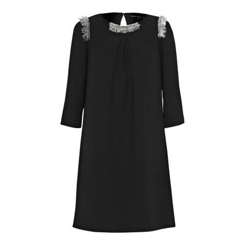 French Connection Black Fringe Tunic Dress