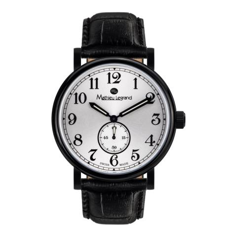 Mathieu Legrand Men's Black Leather Classique Watch