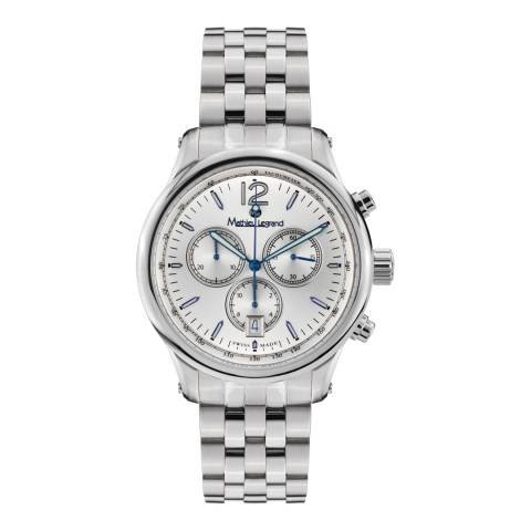 Mathieu Legrand Men's Silver Classique Chronograph Watch