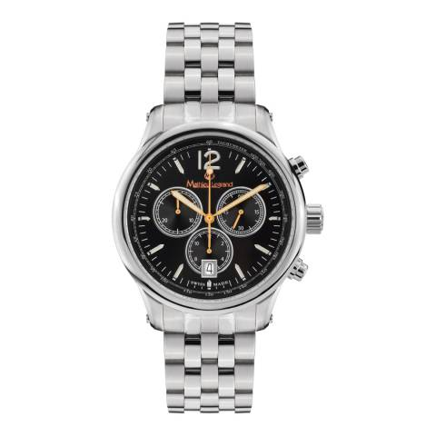 Mathieu Legrand Men's Silver/Black Classique Chronograph Watch