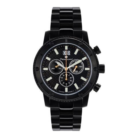 Mathieu Legrand Men's Black Stainless Steel Tableau du Bord Watch