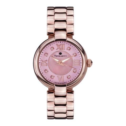 Mathieu Legrand Women's Rose Gold/Pink Mother of Pearl Fleur du Matin Watch