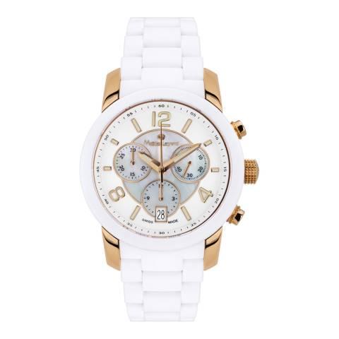 Mathieu Legrand Women's White/Gold Nacre Watch