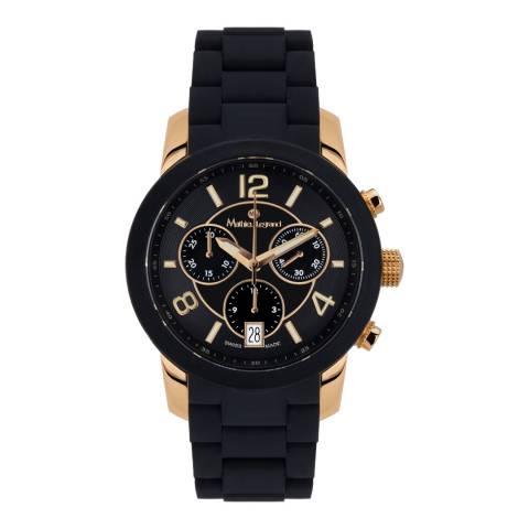 Mathieu Legrand Women's Black/Gold Nacre Watch