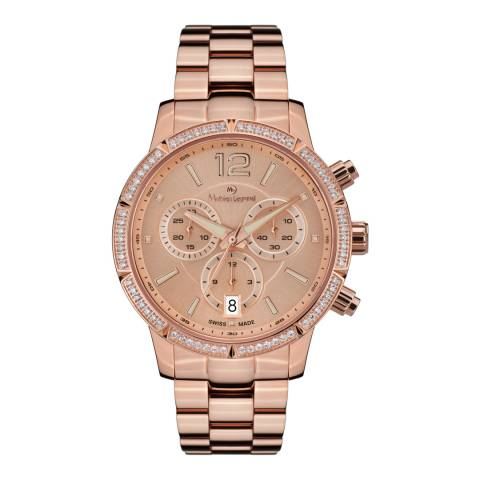Mathieu Legrand Women's Rose Gold Eclatante Bracelet Watch
