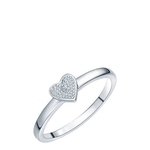 Tess Diamonds Silver Diamond Heart Ring