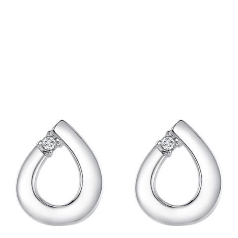 Tess Diamonds Silver Diamond Geometric Earrings