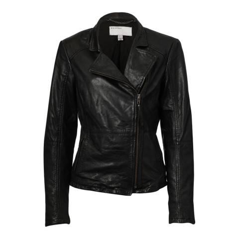 Muubaa Black Kendyll Leather Biker Jacket