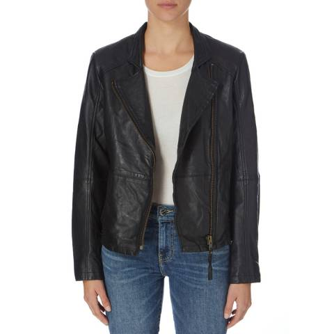 Muubaa Black Kendyll Leather Biker Jacket