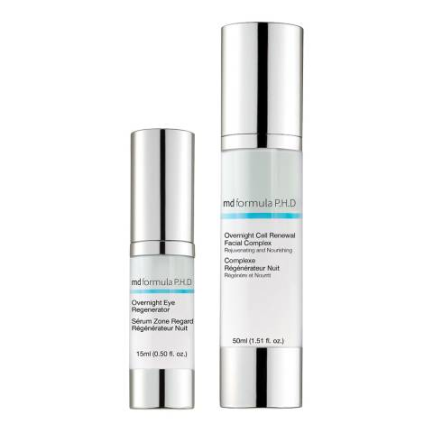 MD Formula Overnight Eye Regenerator & Overnight Cell Renewal Facial Complex Duo