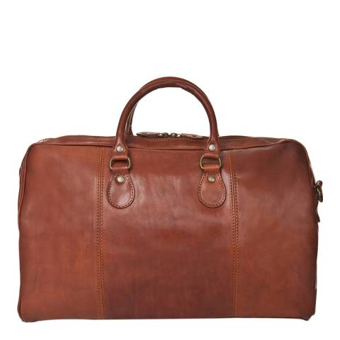 Medici of Florence Brown Leather Travel Bag
