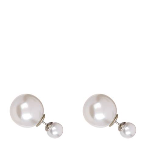 Chloe Collection by Liv Oliver White Pearl Stud Earrings