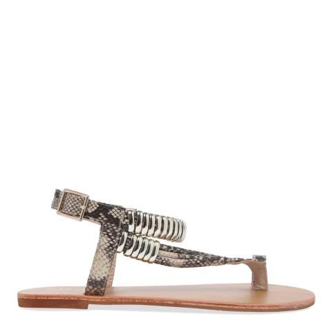 Carvela Kurt Geiger Beige Klipper Flat Sandals