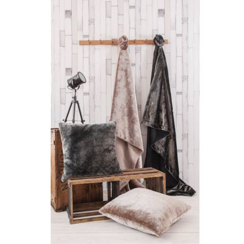 Gallery Charcoal Grizzly Faux Fur Throw 140x200cm