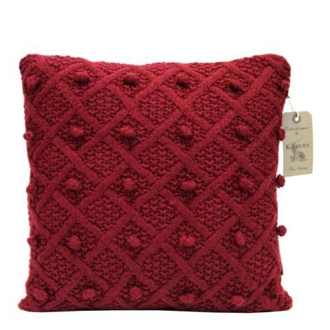 Kilburn & Scott Red Bobble Cushion 40 x 40 cm