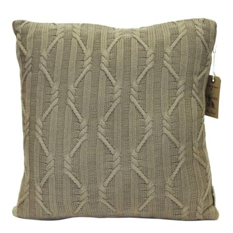 Kilburn & Scott Taupe Arran Knit Cushion 50 x 50 cm