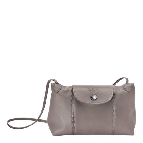 79007914619fd Grey Le Pliage Cuir Crossbody Bag - BrandAlley