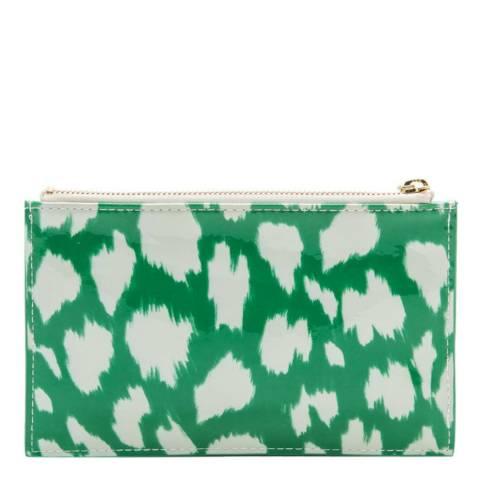 Kate Spade Green Cheetah Painterly Pencil Pouch