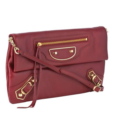 Balenciaga Red City Crossbody Leather Bag