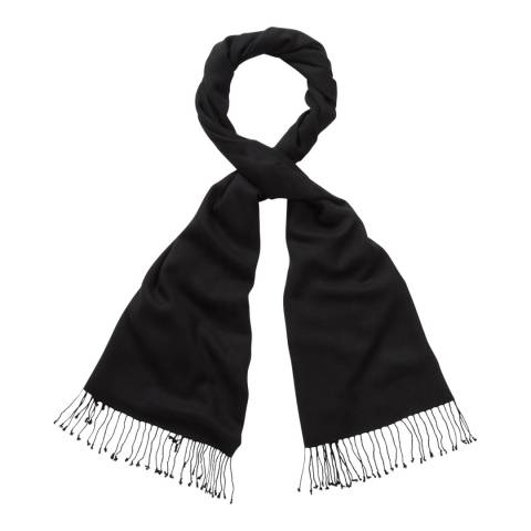 Pure Collection Medium Black Cashmere Pashmina
