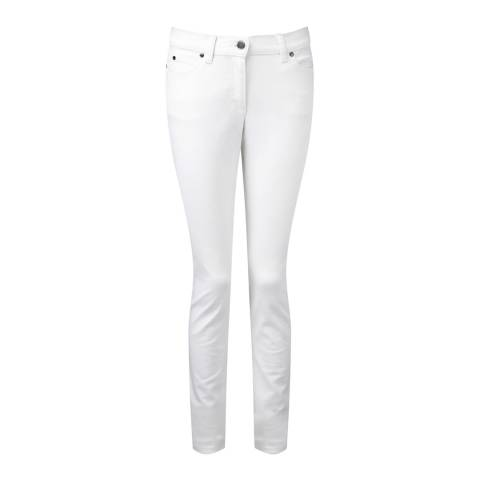 Pure Collection White Slim Stretch Jeans