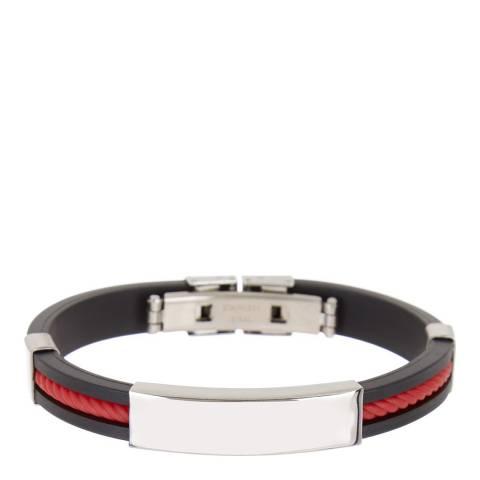 Stephen Oliver Black/Red ID Cable Bracelet