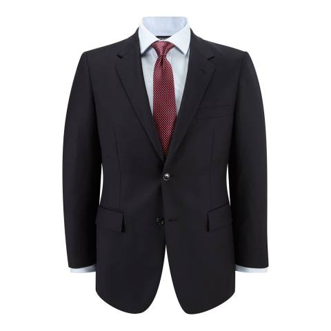 Austin Reed Navy Gabardine Wool Suit Jacket